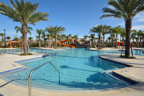 On-site facilities:- Palm tree lined pool