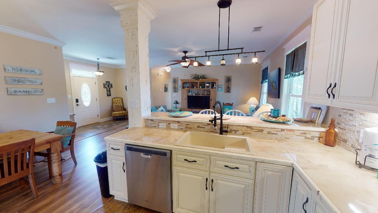 Luxury Kitchen Offers Plenty of Counter Space.