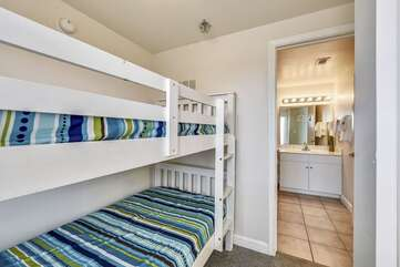 View of bunk area from hallway