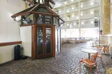 coffee shop located by lobby