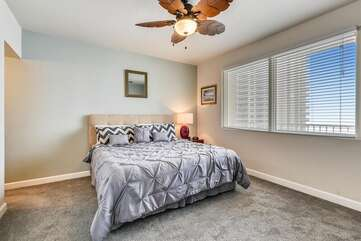 Master bedroom with comfortable memory foam mattress