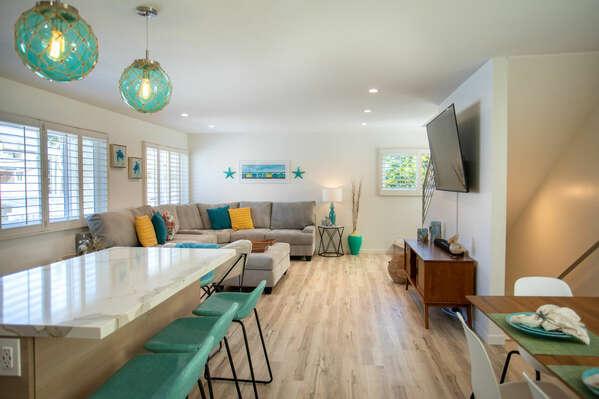 Open Floor Plan of this Vacation Rental in San Diego CA