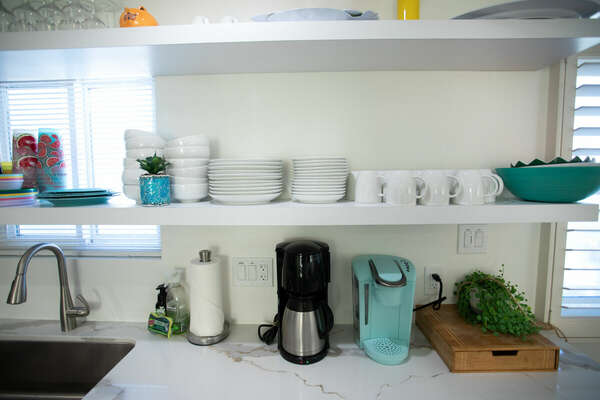 Two Coffee Machines in Kitchen