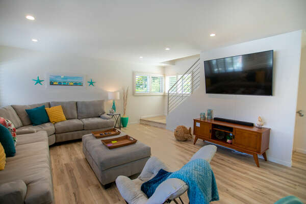 Living Room with sectional and TV