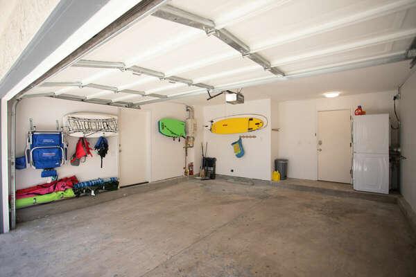 2-Car Garage with Beach Items