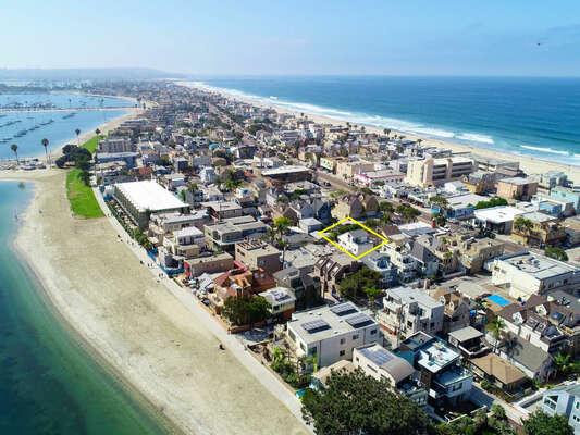 Aerial - Close to Beach & Bay