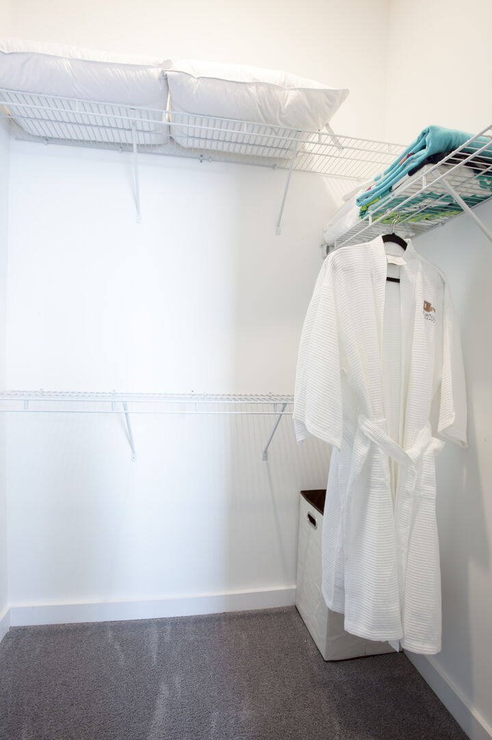 Image of Bathroom Robe in Guest Closet.