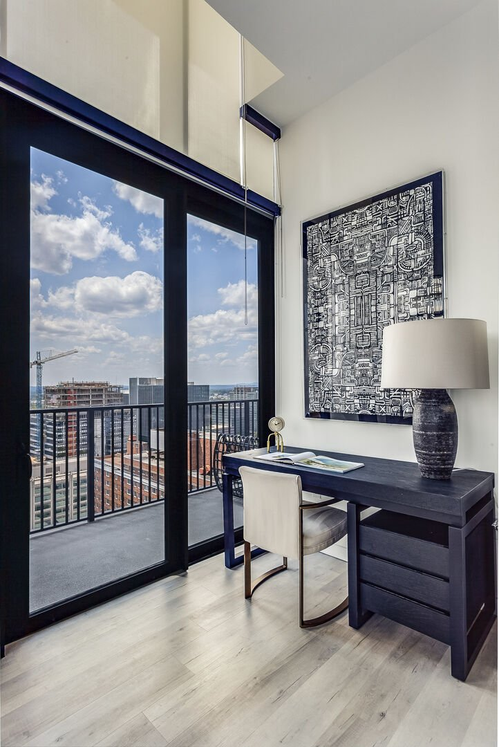The office area Offers Guests Beautiful Views From Desk.