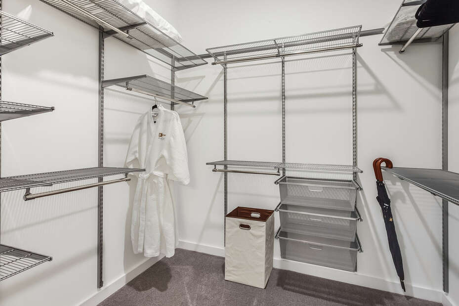 Master Closet Includes Plenty of Space for Shoes and Clothes.