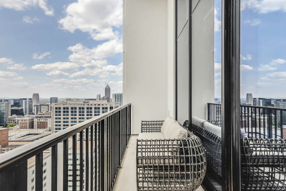 Guests Can Relax on the Spacious Balcony of Penthouse.