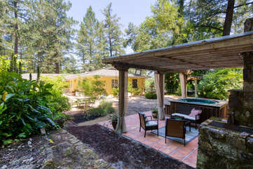 Privacy & calm, with views of Mt. St. Helena, vineyards, and Napa Valley