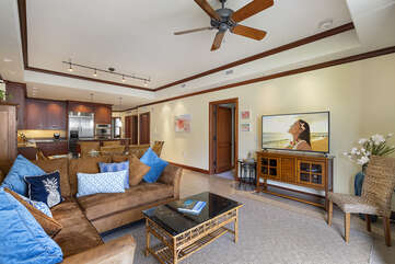 Great Room with Couch and TV