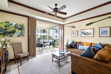 Great room with easy lanai access