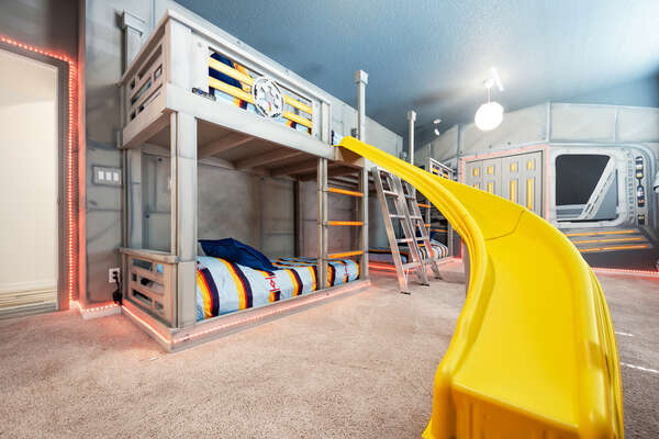 Downstairs kid's themed bedroom