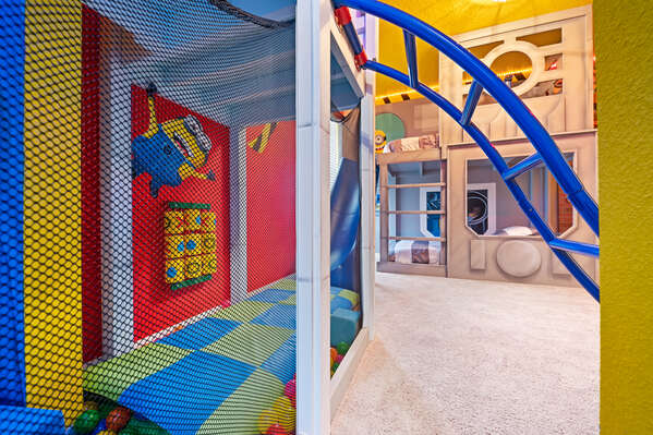 Walk through to the second side of the kid's room to a mischievous world