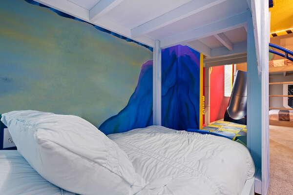 Comfortable twin over twin bunkbed