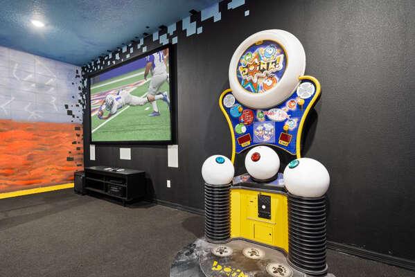 Take a shot at the arcade machine