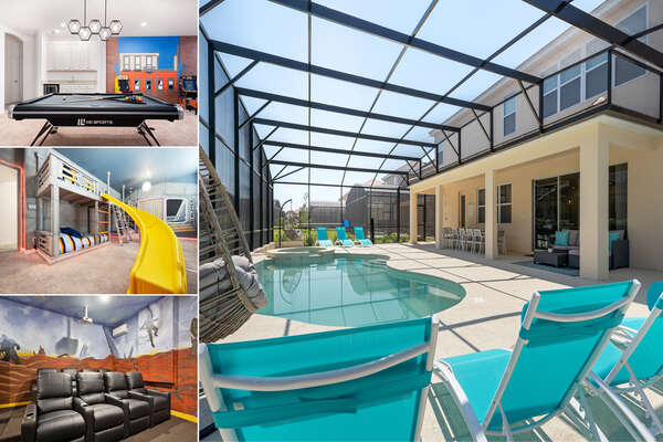 Welcome to Solterra Paradise, a 12 bedrooms villa with a movie room and an extended pool deck | PHOTOS TAKEN: May 2019