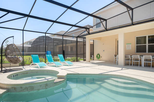 Spend all day at the pool patio