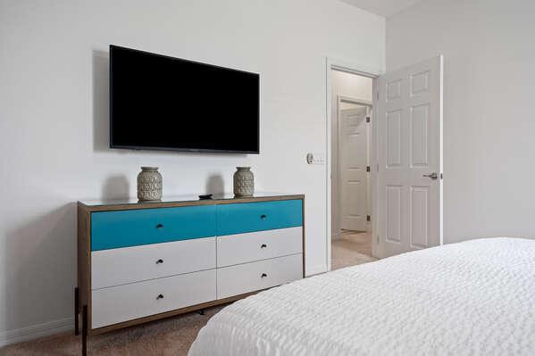 Large TV and dresser