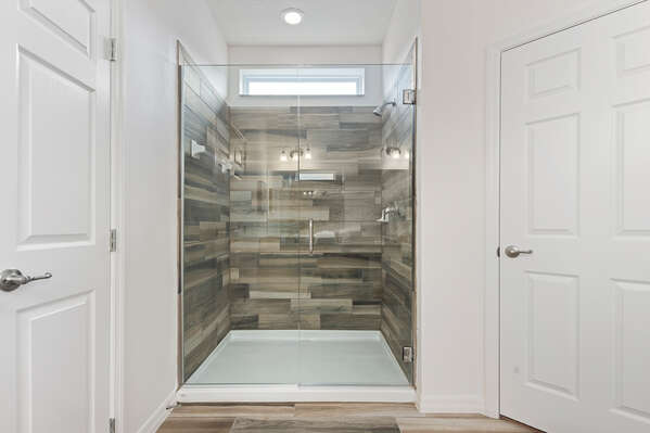 Beautiful wooden shower