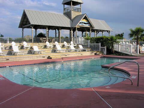 Enjoy Tanning or Swimming in Large Pool.