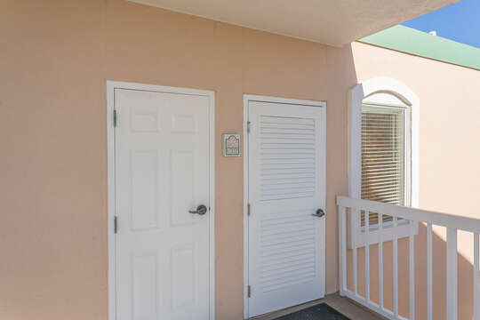 Front Door of our Condo on St. Simons Island Beachfront.