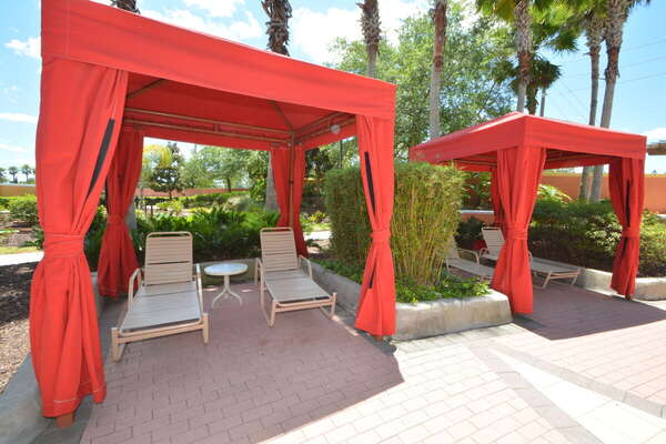 On-site facilities:- Poolside cabanas