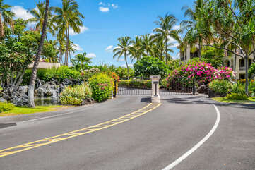 Gated entrance to The Shores at Waikoloa