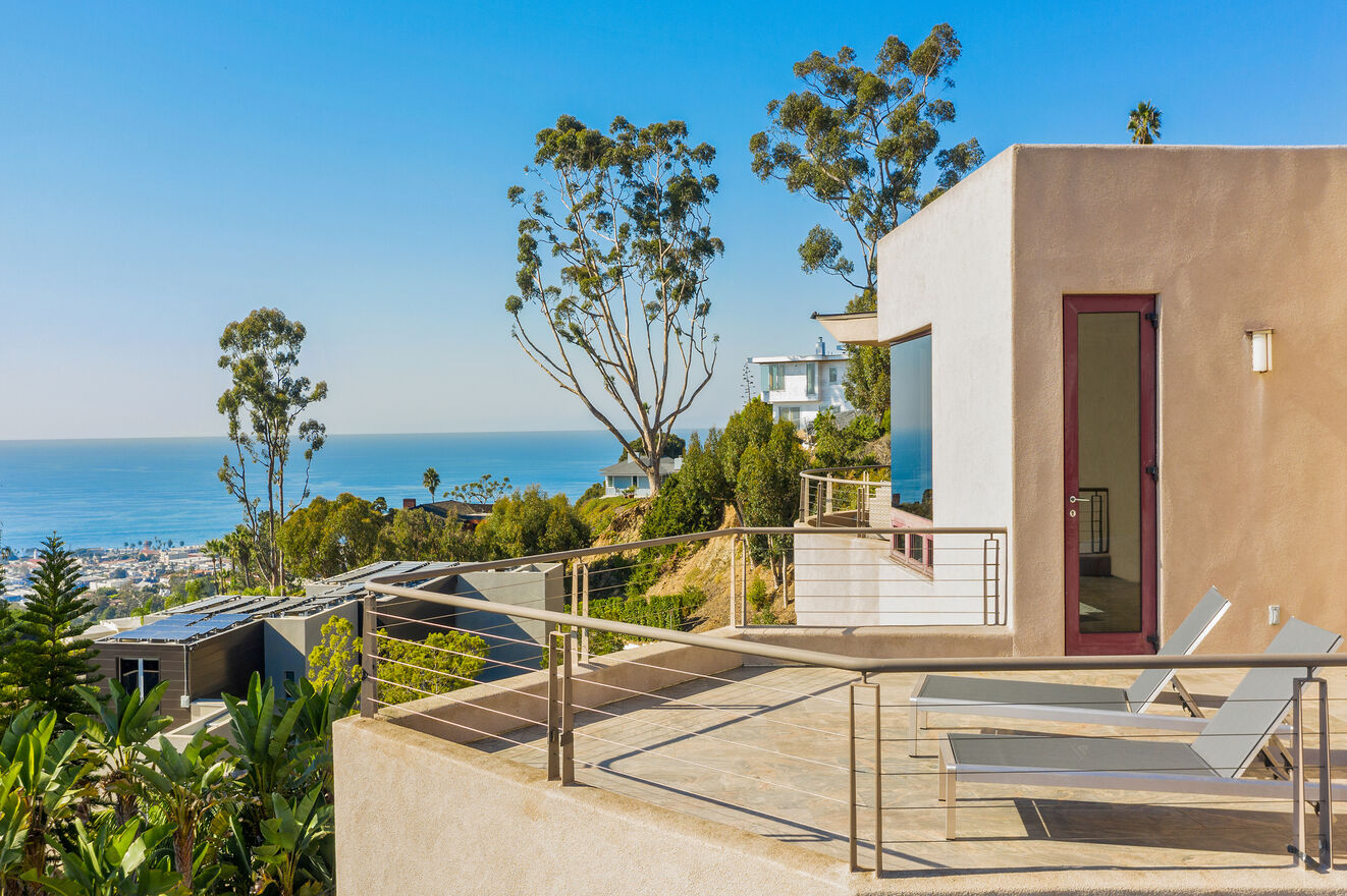 Balcony off upstairs Bedroom 3 Master with gorgeous ocean view