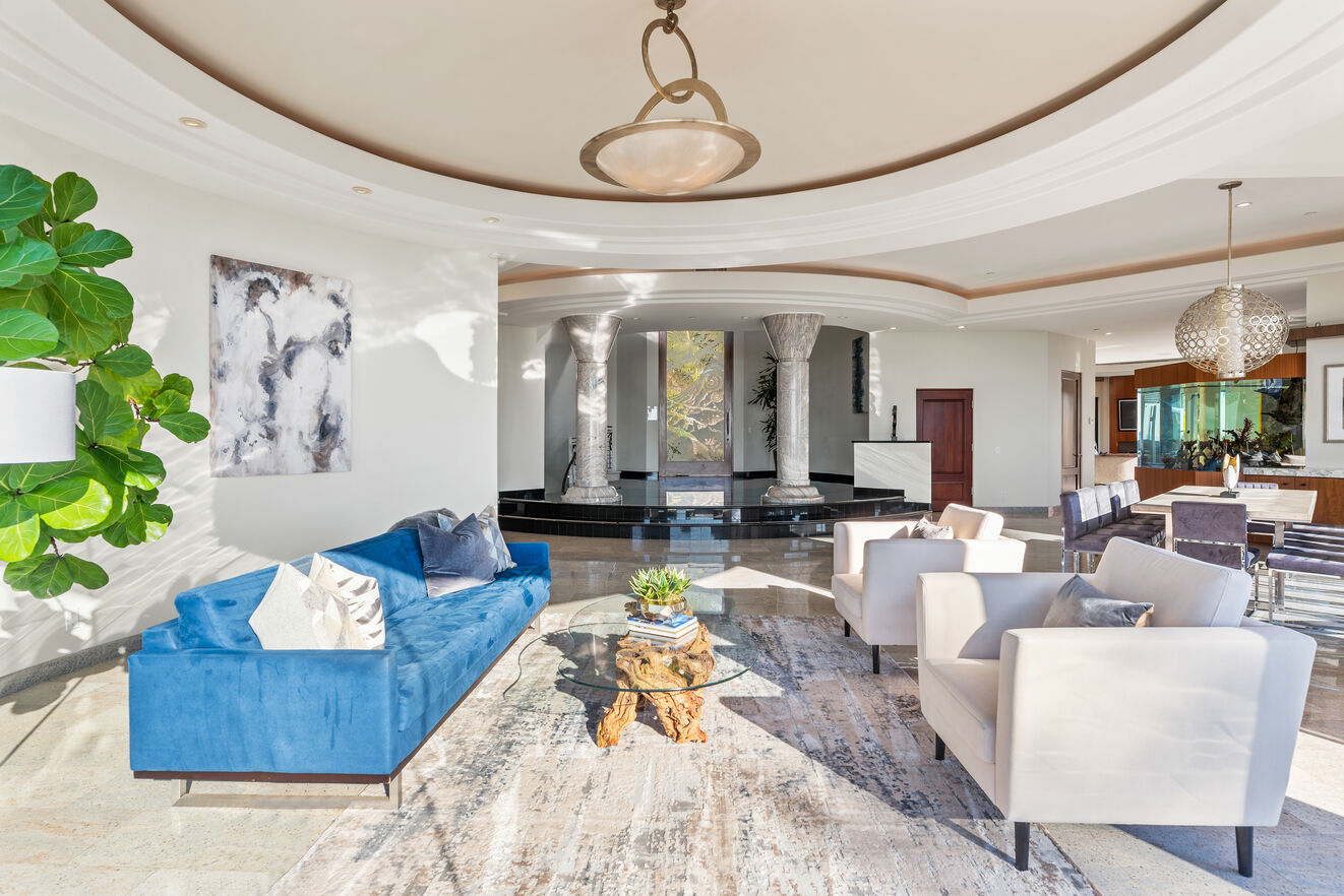 Mid level formal living area