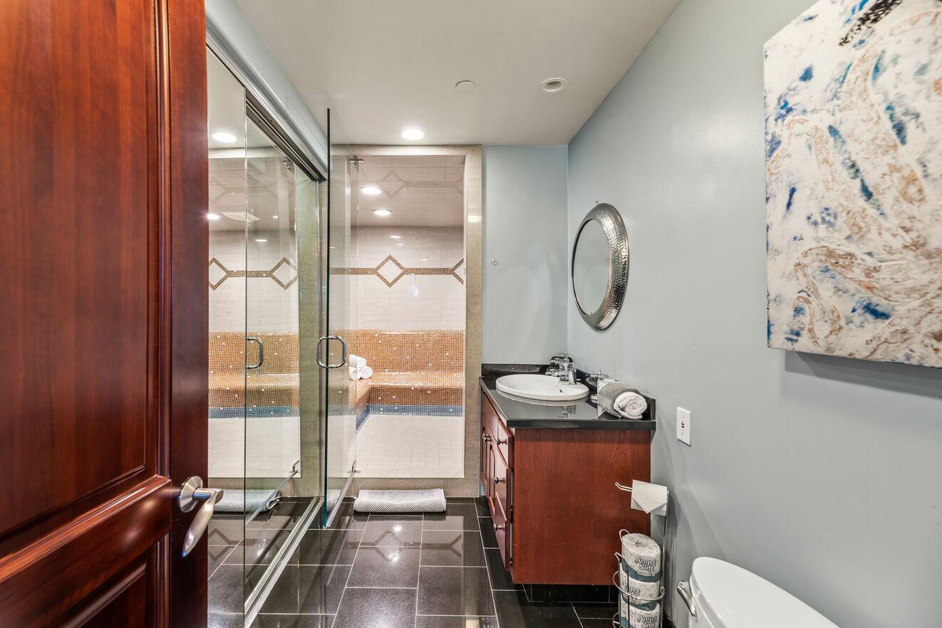 Bedroom 7 - downstairs ensuite bathroom and sauna room