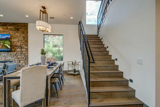 Hardwood Stairway to Second Level Bedrooms