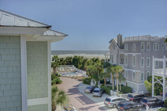 Views from the surrounding homes from the balcony of this beach house in St. Simons Island.