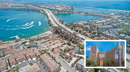 Aerial picture of home. Just minutes away from the Agua Hedionda Lagoon.
