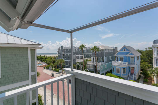Views from the balcony of this home, with other rentals visible.
