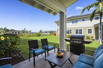 Private lanai with your own BBQ!