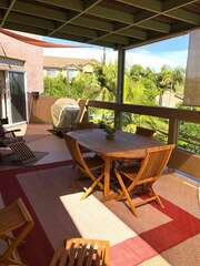 Outdoor balcony patio set with enough seating for 4 people.