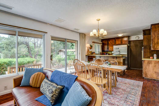Family Room, Dining Area and Kitchen Boasting the Natural Light and Red Rock Views