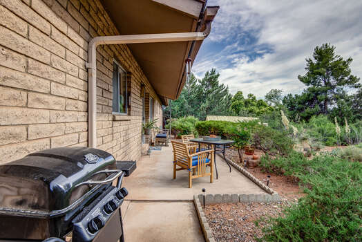 Outdoor Patio with Seating and BBQ Grill