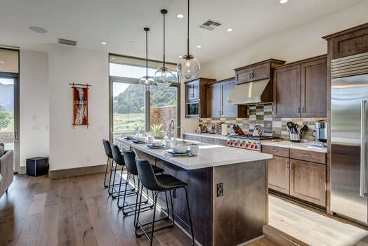 Gourmet Kitchen with Plenty of Natural Light