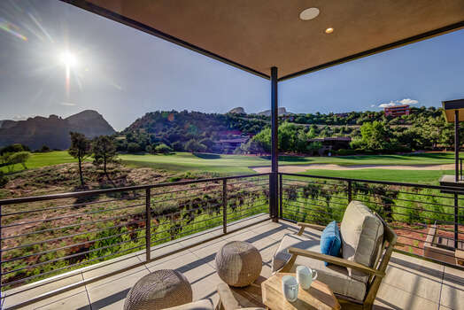 Master Bedroom Private Balcony Overlooking the Golf Course with Stunning Views