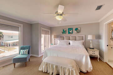 Master Bedroom - King with amazing beach views