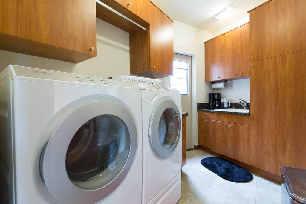 Laundry utility room.
