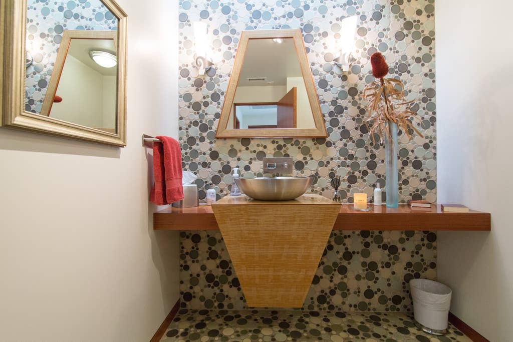Award winning bathroom for design - each circle was hand crafted and installed.