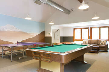 Billiards and Ping Pong in Recreation building