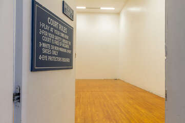 Indoor Squash and Racquetball Court