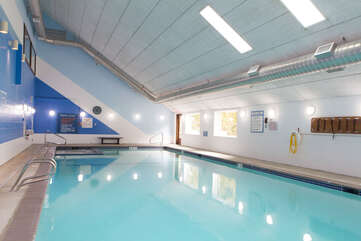 Heated Year Round Pool and Hot tub in Recreation Building