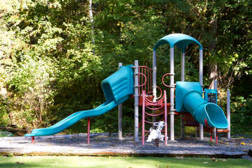 Playground near entrance to community