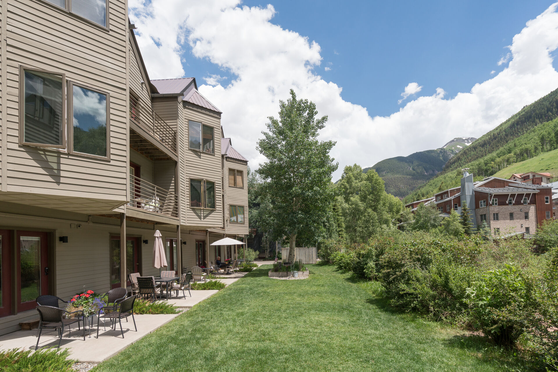 Outside view from our Telluride studio rental